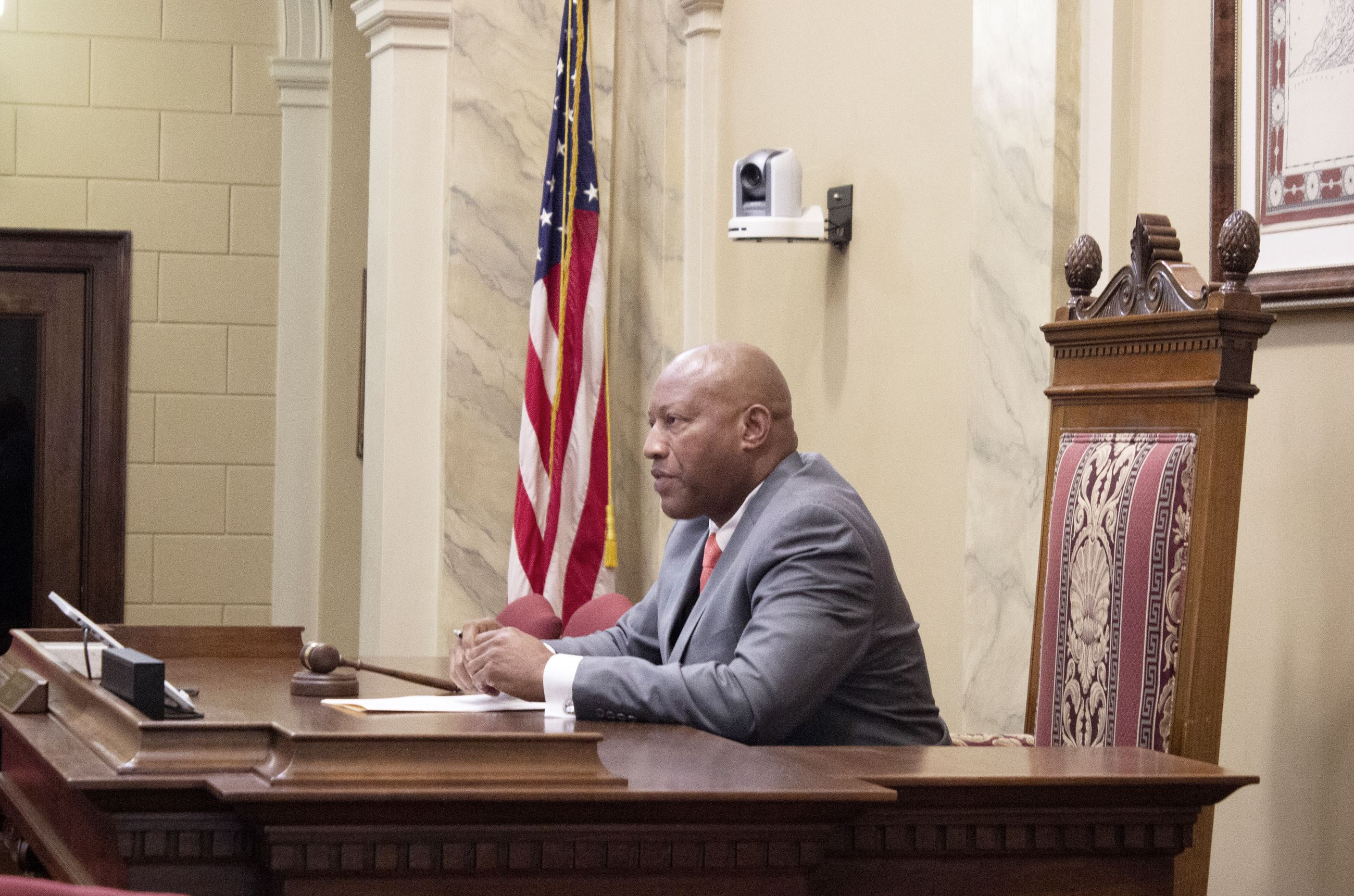 Mayor Jones presides at inaugural meeting