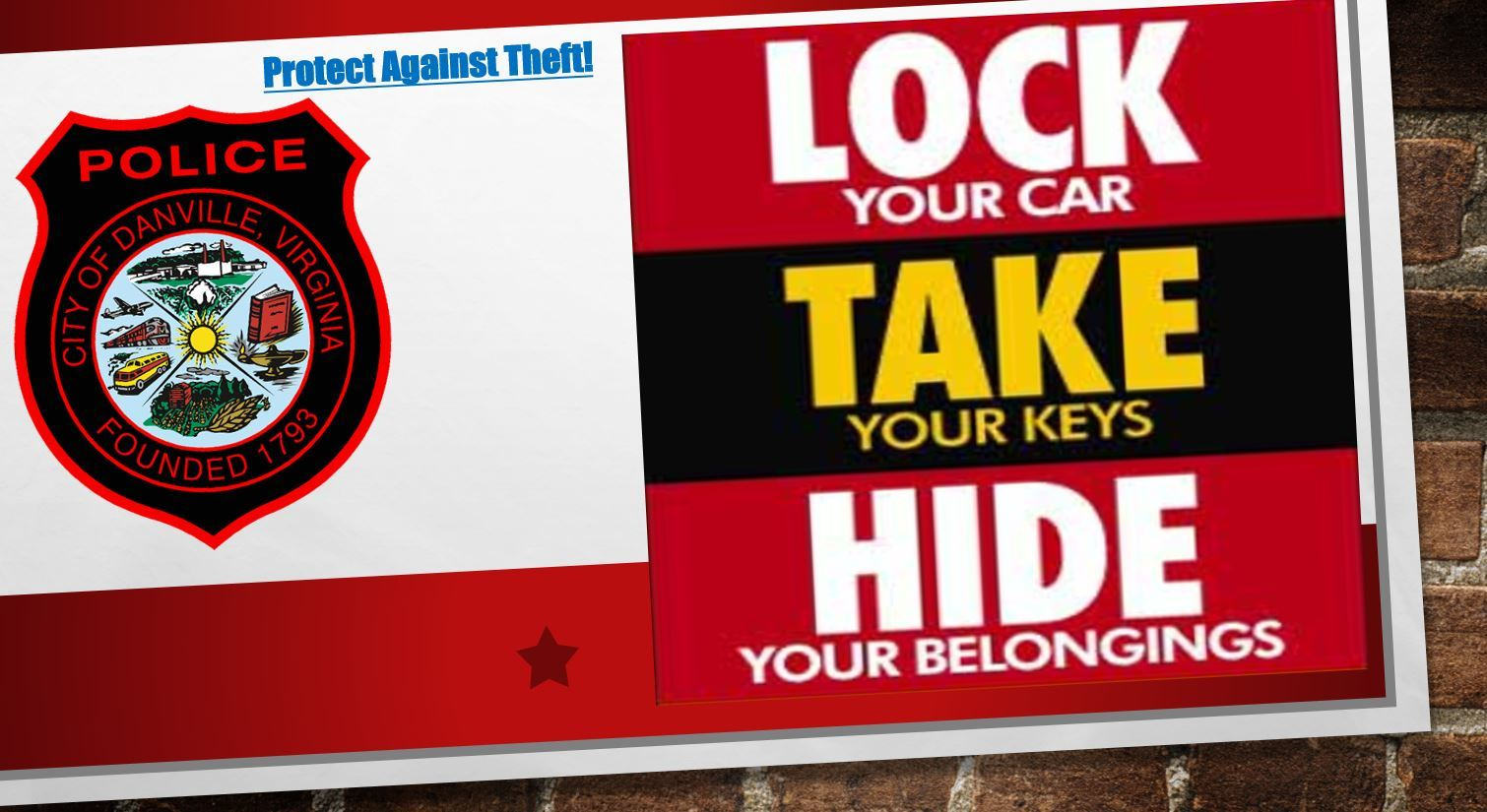 Protect Against Theft
